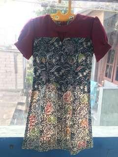 Dress batik untuk kondangan atau kerja