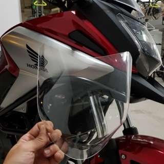 HONDA NC700X & HONDA NC750X R&G HEADLIGHT PROTECTOR Installed on 15/3/2018
