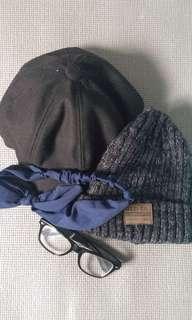 帽子+無度數眼鏡+頭巾