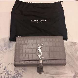 YSL Medium Kate Tassel Chain Bag in Crocodile Leather *Original Price $16900