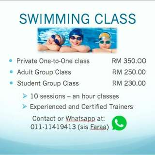 Swimming class kl and selangor swim lesson