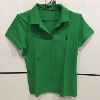 (ORIGINAL) Polo shirt deep green TURUN HARGA