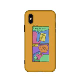 Go to Bed Comic Strip Mustard 9Gag iPhone case