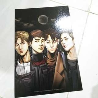 EXO POWER COMIC COVER SUHO XIUMIN CHEN D.O.