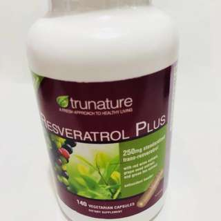Trunature Resveratrol plus 140pcs from US 白藜露醇. 現貸