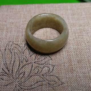 翡翠玉介子 斑指 內俓 21.4mm