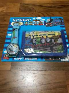 BN Children Wallet and Watch Set (Thomas Train, Cars)
