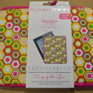 全新紅色 iPad 袋 Fashion Nation Macbeth Collection