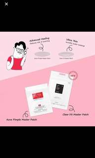 Cosrx Acne Pimple Master Patch/ Cosrx Clear Fit Blemish master Patch (18 patches)