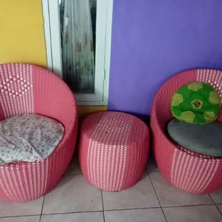 Sofa minimalis rotan sintesis