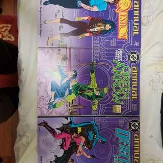 Detective comics, Green Arrow and Question annuals 1