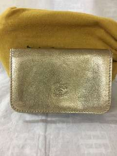 IL BISONTE Italy Brand Card Case (Gold colour )