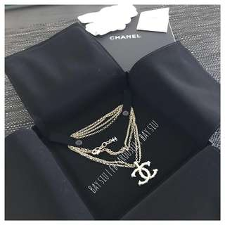 99新 Chanel Double Chain Necklace