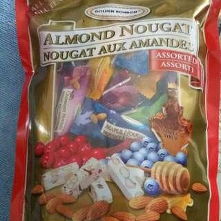平讓 鳥結糖 almond nougat (from canada)