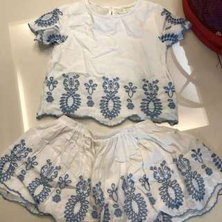 Zara girls 2pcs set