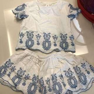 Zara girls 2pcs set