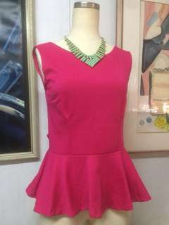 Pink backless tops with ribbon(accesories not included)