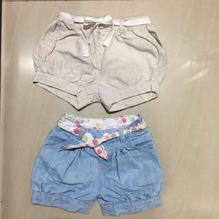 Preloved shorts mothercare & cotton on kids