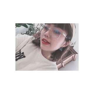 🚚 透明框眼鏡