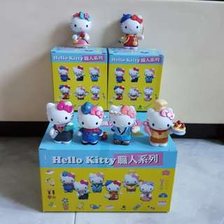 Authentic Hello Kitty Set of 6 Occuptions Figure