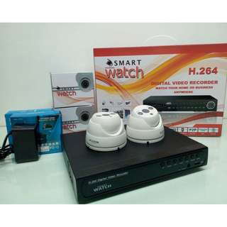 CCTV IP Smart Watch Camera Package with FHD Display and Support ONVIF Protocol