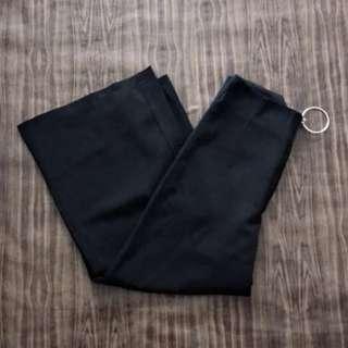 Vintage Thrift Ring Culottes Highwaist Pants (Blackh