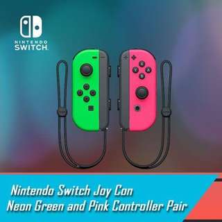 Nintendo switch Joy - Con Neon Green And Pink Controller Set