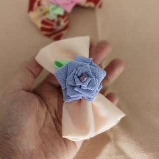 和風玫瑰+蝴蝶bow頭夾~兩款選擇