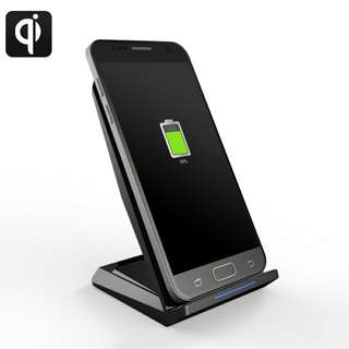 Qi Enables Wireless fast charger bracket-Two Coil,Support 5W,10W Function, Supports iPhone Samsung Galaxy and more (CVAIA-A870)
