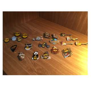 Hard Rock Cafe Pins - Assorted vintage sold in a set (Revised Price)