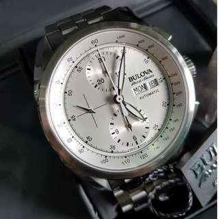 Bulova Accu Swiss Automatic Chronograph Tellaro Silver