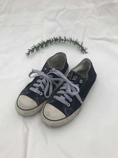 Black deuce lace up sneakers