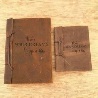 Leather Notebook with Custom Text
