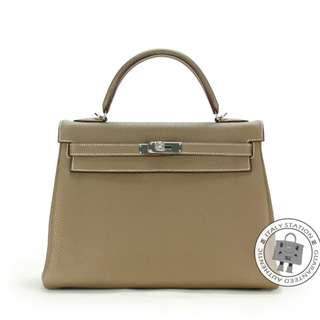 (NEW) Hermes KELLY TOGO 32 TOTE BAG PHW, ETOUPE / CK18 全新 手袋 銀扣