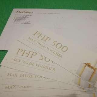 MaxStays hotel voucher