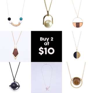 Buy 2 @ $10! Summer Sale!  Geometry Necklaces ll