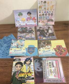 Japanese Anime Colletions like stickers, stationary,tape,