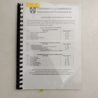 H2 A level Geography Papers and Marking Scheme
