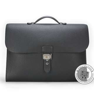 (NEW)Hermes SERVIETTE TOGO 41 BRIEFCASE PHW, BLACK / CK89 全新 手袋 黑色 銀扣