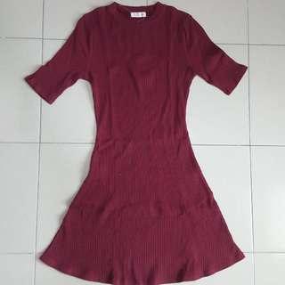P&Co ribbed cotton dress Size s