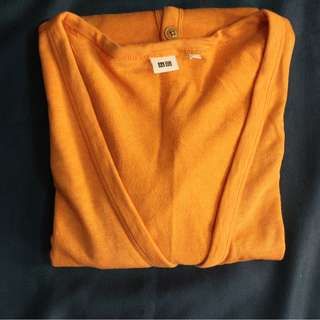 UNIQLO - Outer Cardigan Sweater Size XL Orange