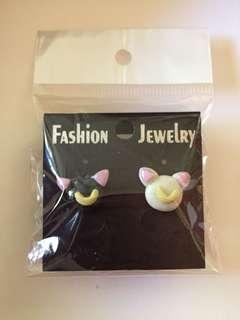 Polymer Sailor Moon Cats Stud Earrings