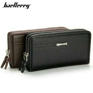 Baellerry double zipper clutch - handbag / dompet