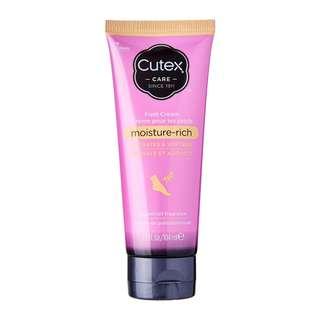 【包郵】CUTEX Foot Cream 深層保濕潤足霜 104ml