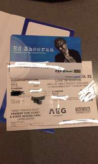ED SHEERAN (2) GOLD TICKETS