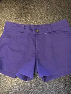 Violet Shorts for Young Girls