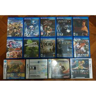 Used PS Vita, 3DS, and NDS games for sale