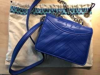 Tory Burch crossbody bag (blue) *99% New*