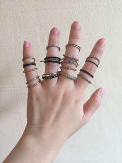 Set of 22 rings