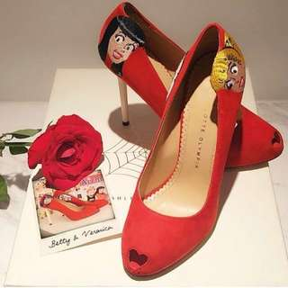 ⚠️代放 Charlotte Olympia red pumps